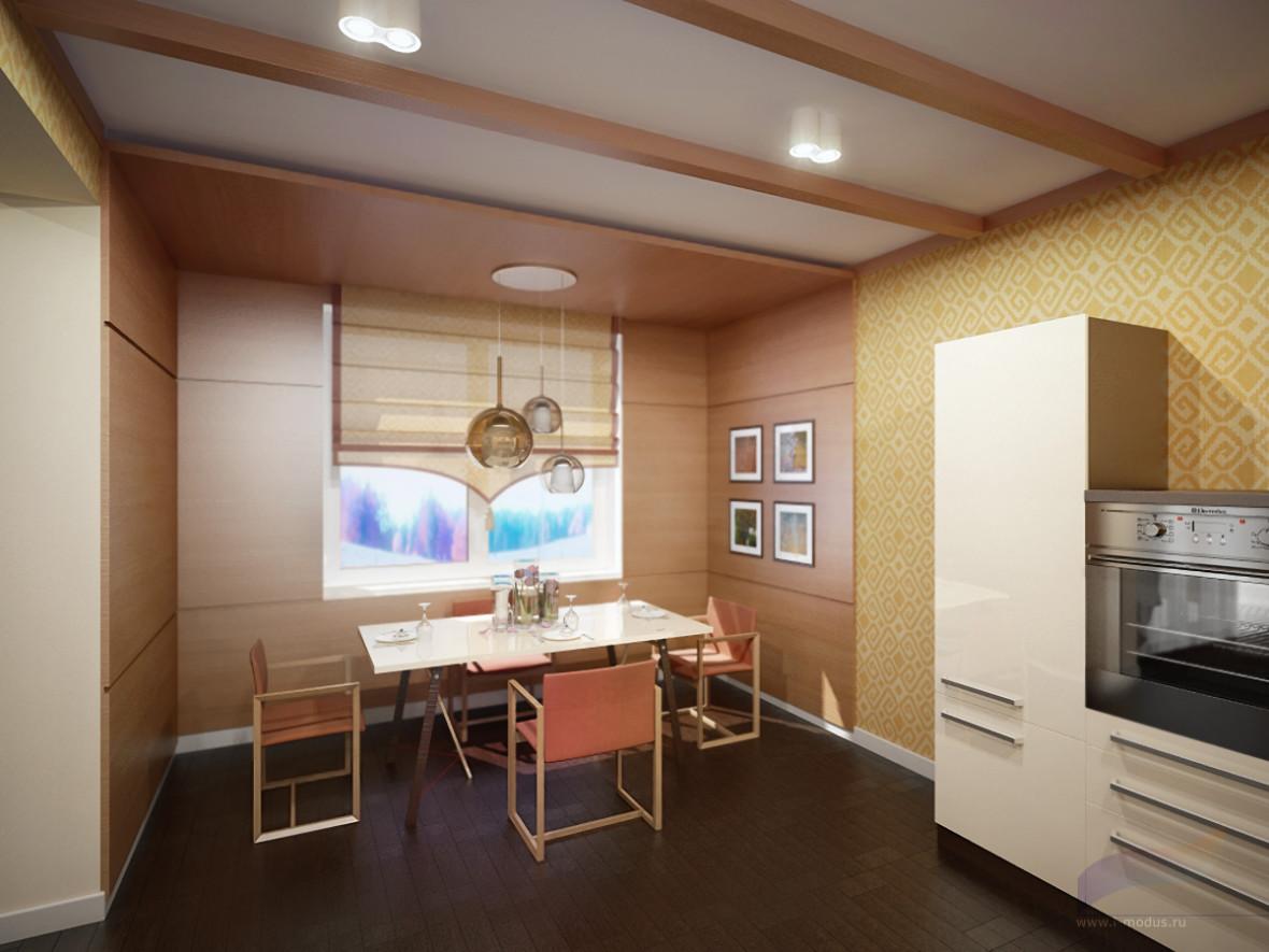 дизайн-планировка-маленькой-кухни