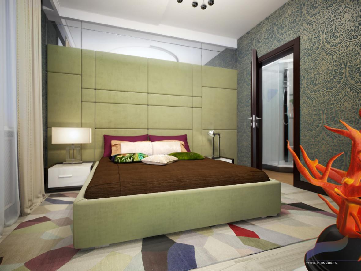 кровать-двуспальная-зеленая