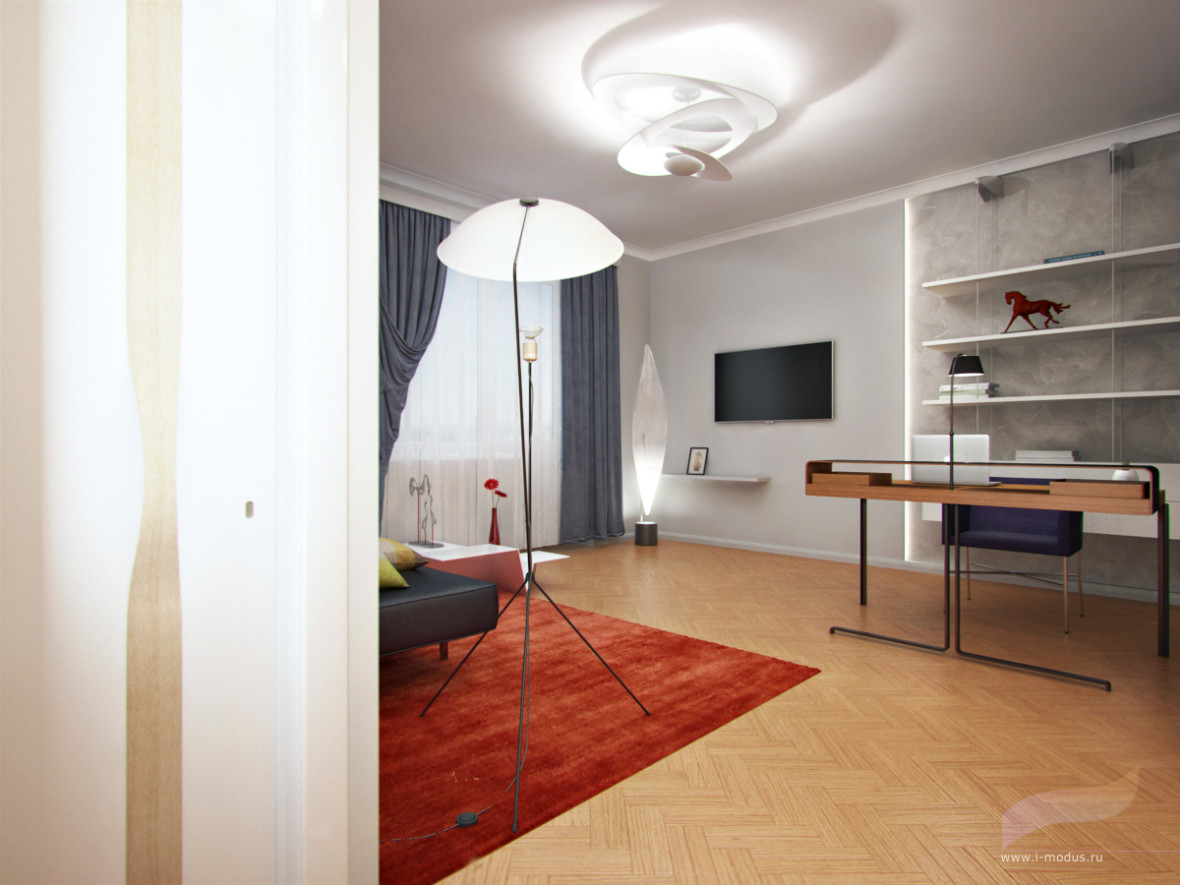 дизайн-кабинета-в-квартире-фото