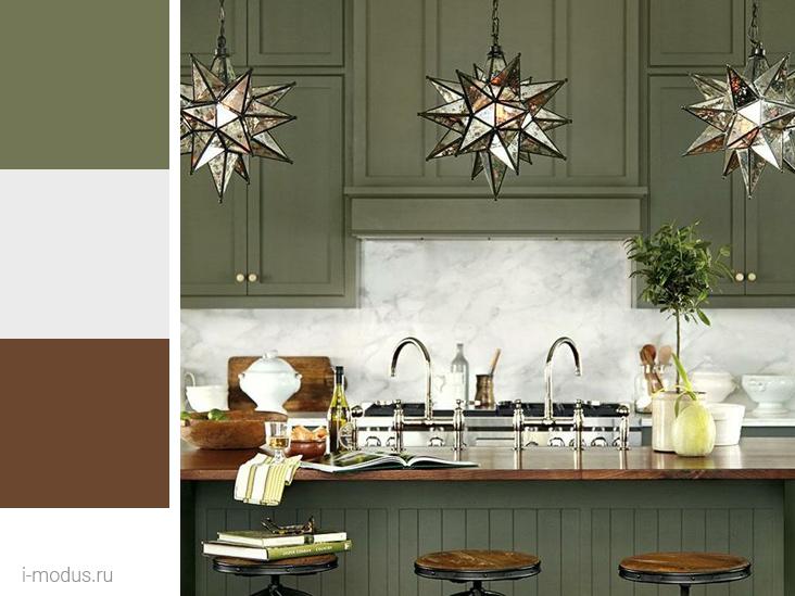 кухня-в-зеленом-цвете
