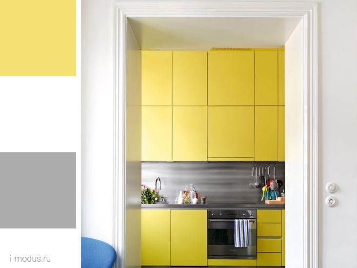 кухня-в-желтом-цвете