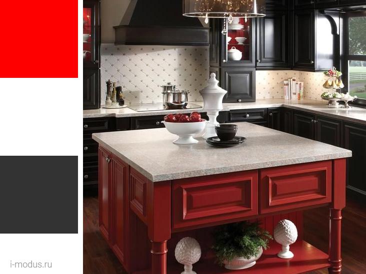кухня-в-красно-черном-цвете