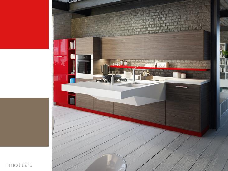кухни-в-красном-фото