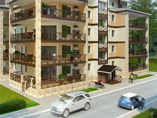 Визуализация пятиэтажного жилого дома