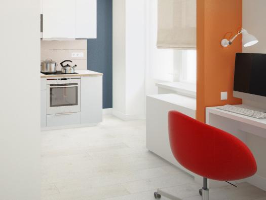 Дизайн квартиры 30 кв.м для молодой семьи