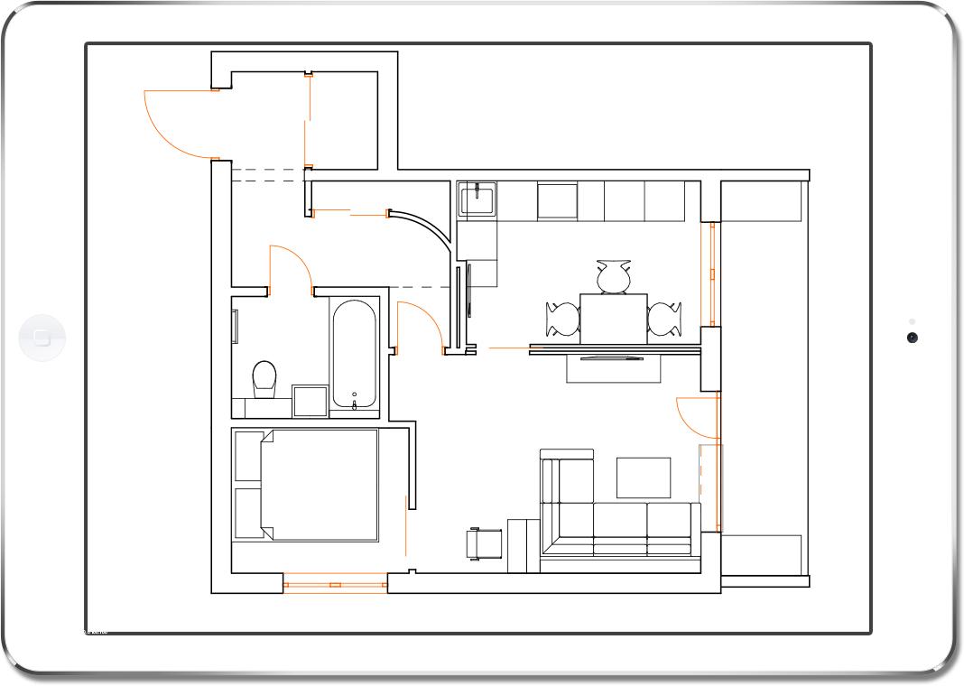 план-42 квм-планировка