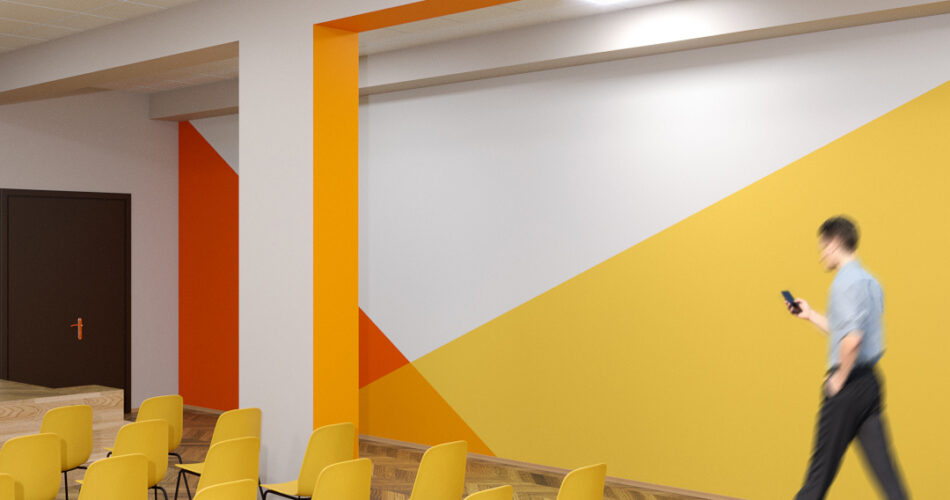 актовый зал дизайн стен
